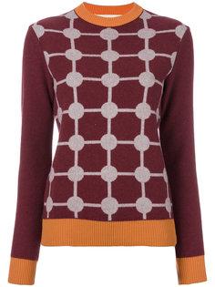 свитер с узором интарсия  Marni