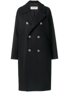 свободное пальто  Saint Laurent