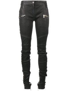 брюки с заниженной талией и шнуровкой  Balmain