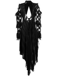 платье с глубоким вырезом Off-White