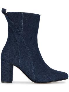 джинсовые ботинки до середины голени Joan Ganni