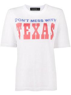 состаренная футболка с принтом Texas Filles A Papa