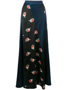 юбка макси с панельным дизайном Ganni