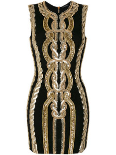 декорированное платье Balmain