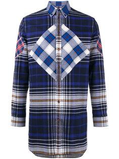 клетчатая рубашка свободного кроя Givenchy