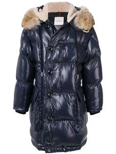 пальто-пуховик с капюшоном Moncler