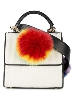 мини-сумка на плечо с разноцветным мехом Alex Les Petits Joueurs
