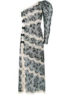 кружевное платье на одно плечо  Alessandra Rich