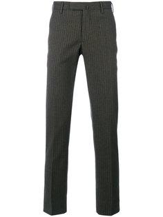 полосатые классические брюки  Incotex
