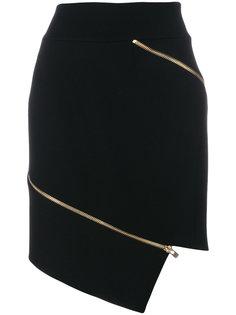 асимметричная юбка с застежкой-молнией Alexandre Vauthier