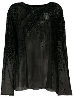 блузка с бархатной отделкой Alexandre Vauthier