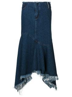 асимметричная юбка клеш  Marquesalmeida