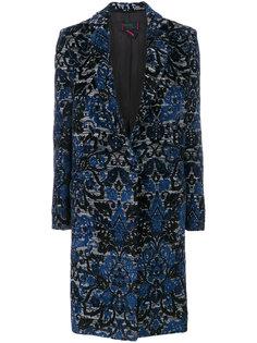 однобортное пальто с вышивкой Femme By Michele Rossi