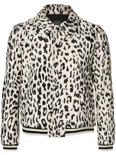 куртка-бомбер с леопардовым принтом Garcons  Infideles