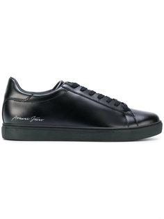 кроссовки на шнуровке Armani Jeans