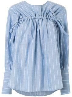 полосатая рубашка с декоративной стяжкой Rejina Pyo