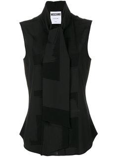 блузка с бантом спереди Moschino