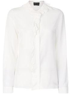 рубашка с оборочной отделкой Emporio Armani