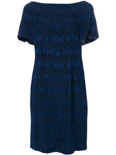 платье с принтом стрекоз Alberta Ferretti