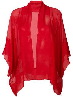 прозрачный пиджак мешковатого кроя Alberta Ferretti