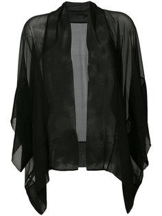 прозрачный пиджак свободного кроя Alberta Ferretti