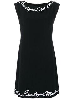 платье без рукавов с логотипом  Boutique Moschino