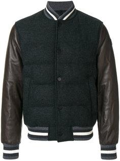 куртка-бомбер с контрастными вставками Moncler