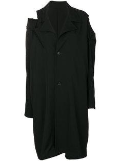 пальто с эффектом потертости Yohji Yamamoto
