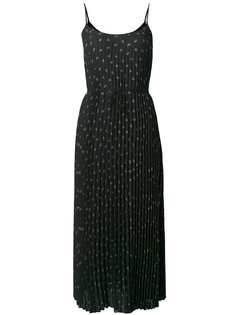 плиссированное платье с цветочным принтом  Vince