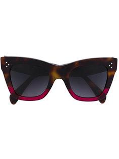 солнцезащитные очки в объемной оправе Céline Eyewear