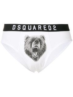 трусы с принтом медведя Dsquared2