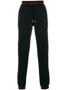 спортивные брюки с контрастными полосками Versace