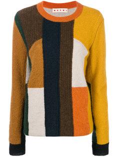 свитер в стиле пэчворк  Marni