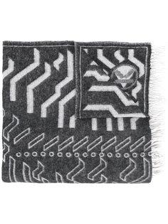 длинный широкий шарф Kenzo