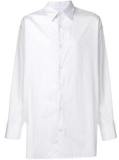 полосатая рубашка свободного кроя Raf Simons