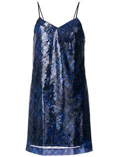 платье-мини в шотландскую клетку с пайетками Hilfiger Collection