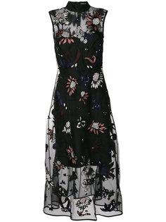 платье с цветочной вышивкой Markus Lupfer