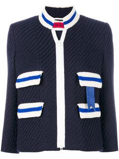 пиджак на молнии в рубчик The Gigi