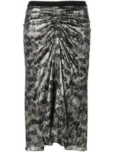 юбка с цветочным принтом и сборкой  Isabel Marant