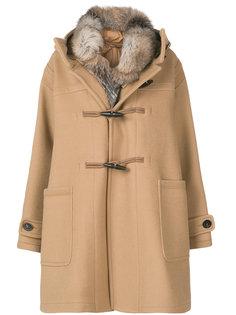 пальто с меховой подкладкой Narcissus  Moncler