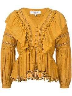 блузка с отделкой из рюшей Sea
