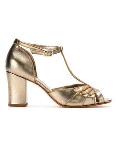 metallic leather pumps Sarah Chofakian