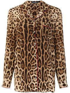 пижамная рубашка с леопардовым узором Dolce & Gabbana