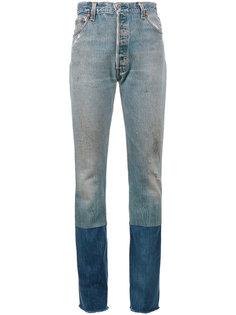 джинсы со вставками Stove Pipe Re/Done