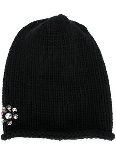 вязаная шапка с украшением из кристаллов Inverni