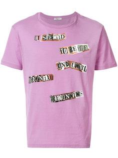 футболка с принтом заплаток Valentino