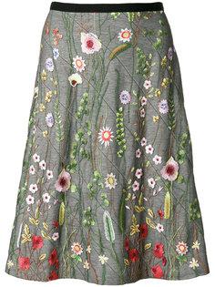юбка с цветочной вышивкой Odeeh