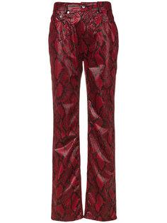 брюки с принтом змеиной кожи  Maison Margiela