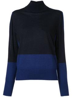 свитер с отворотом и контрастной отделкой  Astraet