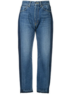 джинсы с полосками и завышенной талией  Astraet